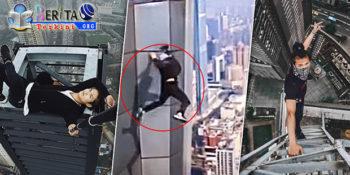 Lakukan Aksi Panjat Gedung di Ketinggian 62 Meter, Pemuda Tiongkok Penantang Maut Tewas Mereggang Nyawa