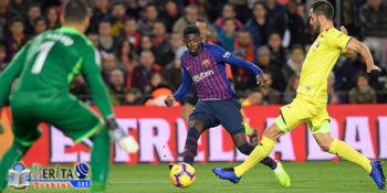 Sukses Tekuk Villarreal, Pelatih Barcelona Puji Dembele