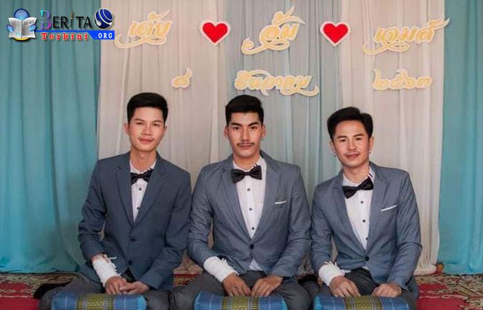 3 Pria Ini Menikah dalam Satu Ikatan, Keluarga Mendukung