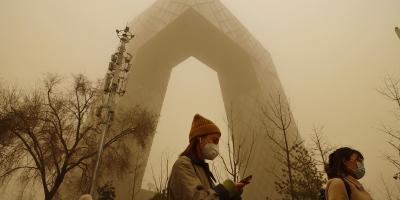 Badai Pasir 100M di China